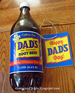 Father's Day Gift - Dad's Root Beer with customized tag