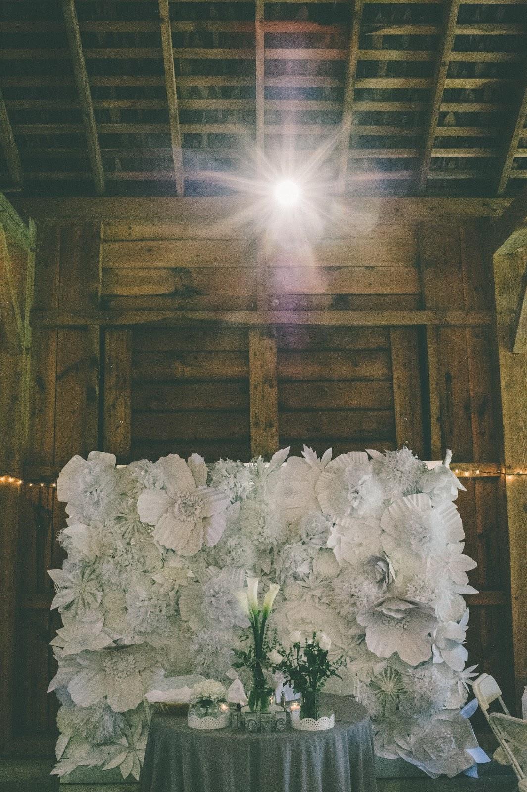 Pancakes & Glue Guns DIY Paper Flower Wall