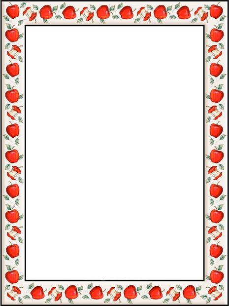 apple border writing paper