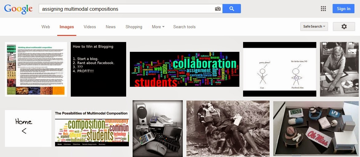 google images from assigning multimodal composition search