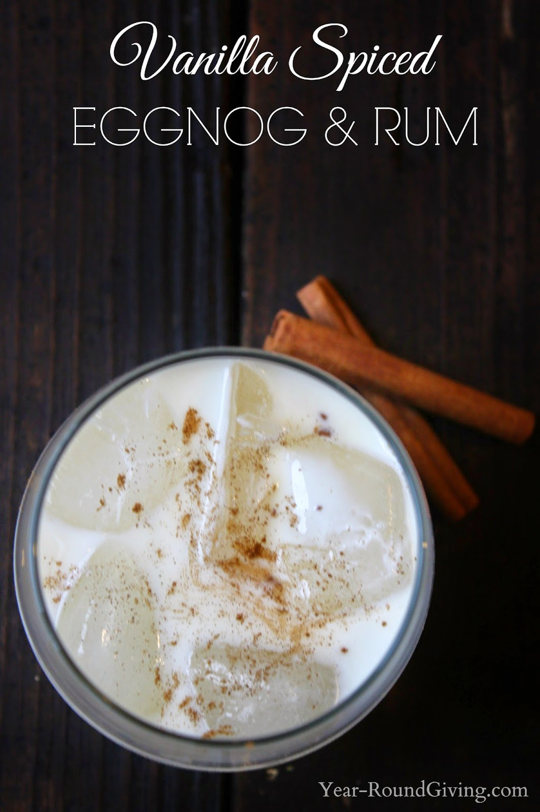 Vanilla Spiced Eggnog and Rum - Holiday Bar Menu Round Up