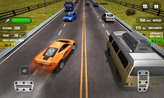 Screenshots of the Race the Traffic for Android tablet, phone.