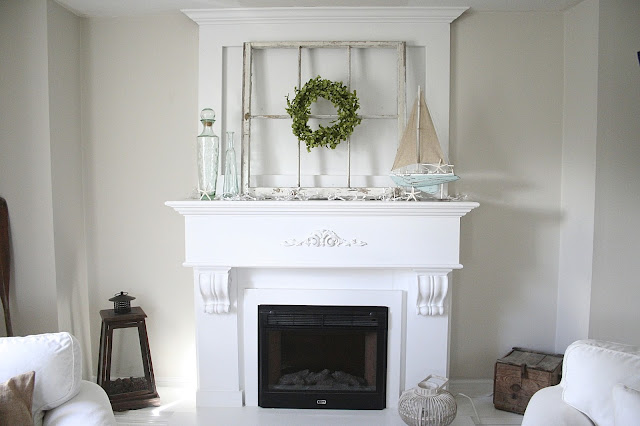 DIY Fireplace / Mantel Makeover!  Nest of Bliss