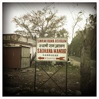 Sadhana Mandir sign
