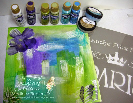 supplies floating canvas using petaloo and decoart products