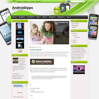 AndroidApps blogger template. template blogspot magazine style. download template for android blogger template
