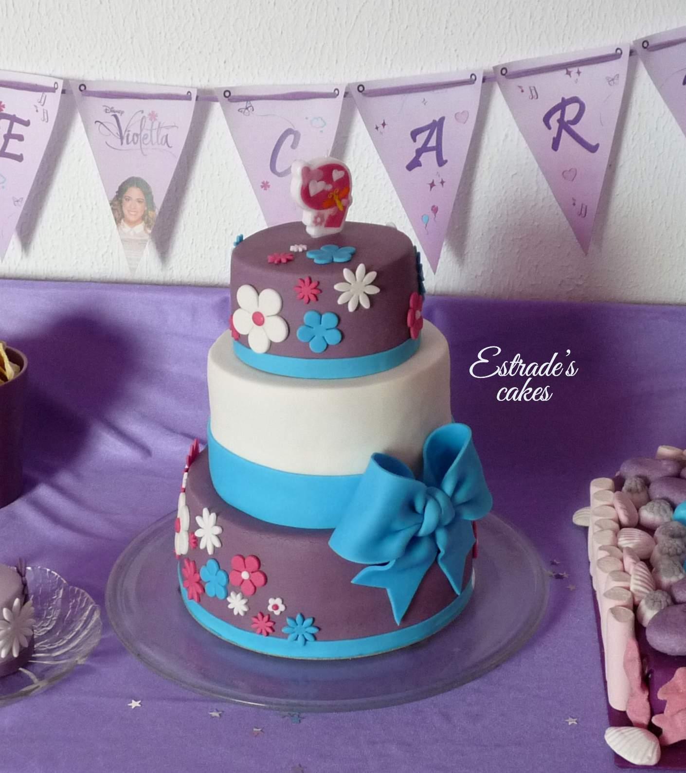 tarta de Violetta para cumpleaños - 3