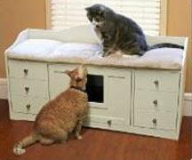 Litter Cabinet Pet Bench