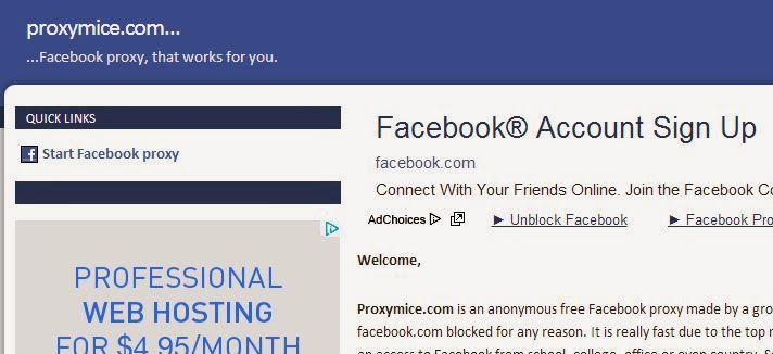 Proxy Mice best Facebook proxy login sites