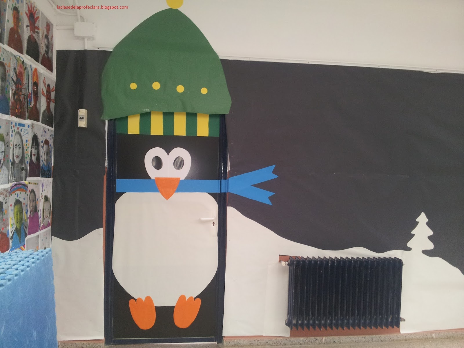 La clase de la profe clara ideas de decoraci n de for Decoracion de puertas de colegio