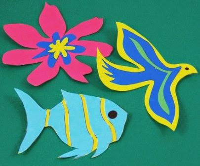 Cara Mudah Membuat Binatang dari Kertas Warna