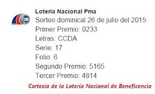 Sorteo-Dominical-26 de-Julio-de-2015-Loteria-Nacional-de-Panama