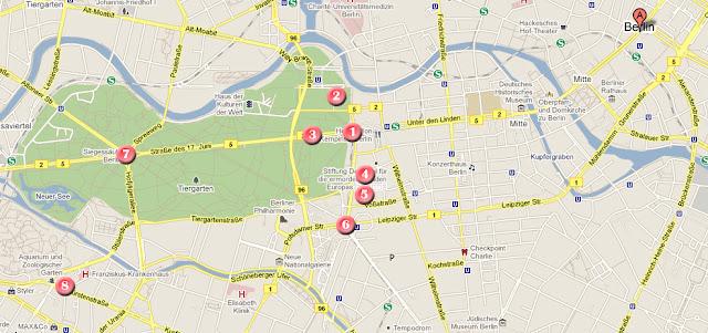Mapa de ruta dia 1 por Berlin