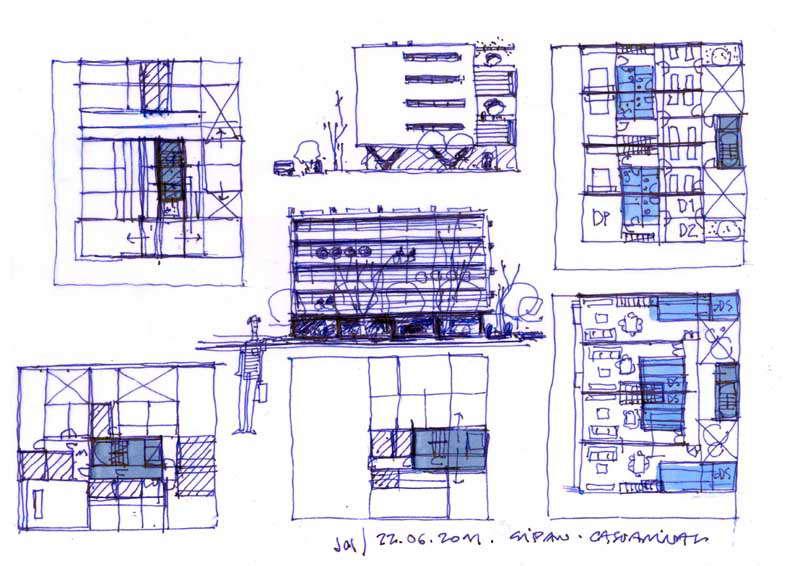Dibujos de arquitecto architect drawings 110621 - Trabajo arquitecto barcelona ...