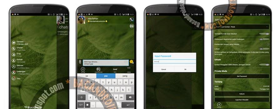 Download BBM2 WP Transparan klone yang sudah bisa password di setting