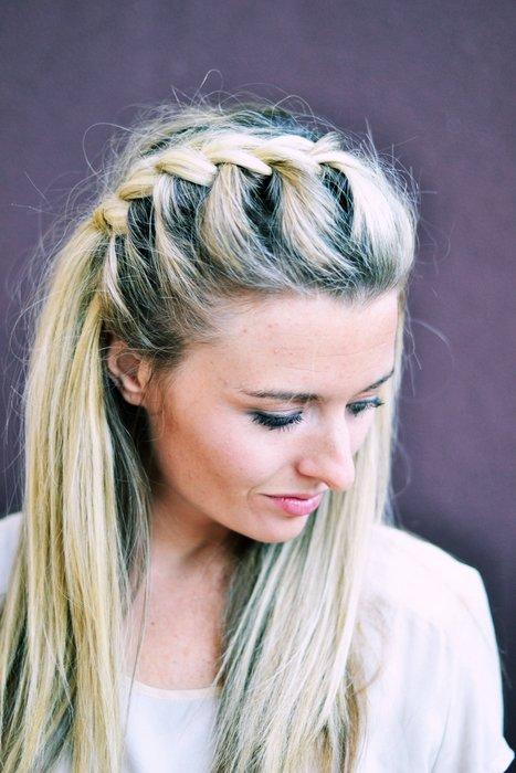 Hair diy half up side french braid the shine project hair diy half up side french braid ccuart Gallery