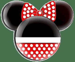 Minnie mouse con lazo rojo y topos blancos