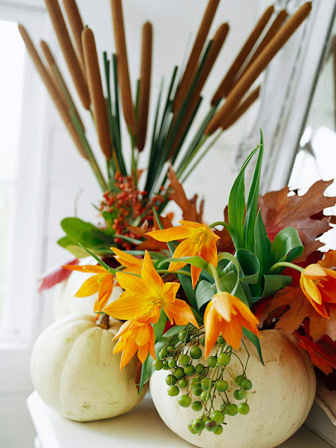 White Pumpkin Vase Centerpiece : The best modern design quick halloween centerpieces ideas