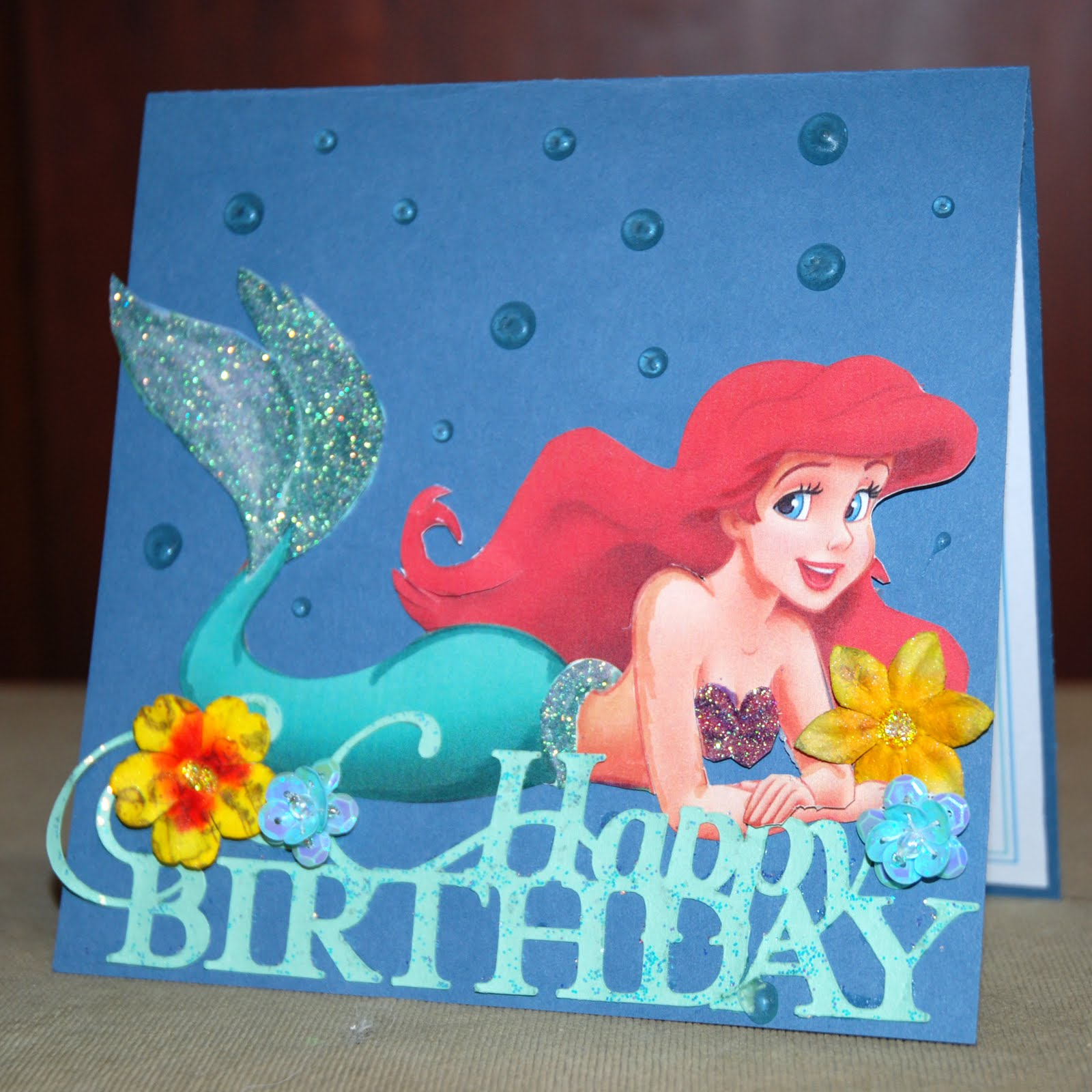 Ariel Birthday Cards family greeting card holiday note cards – Ariel Birthday Card
