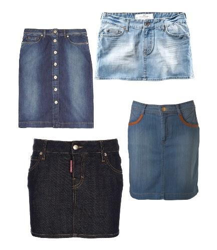 Какую юбку можно сшить из старых джинсов 17