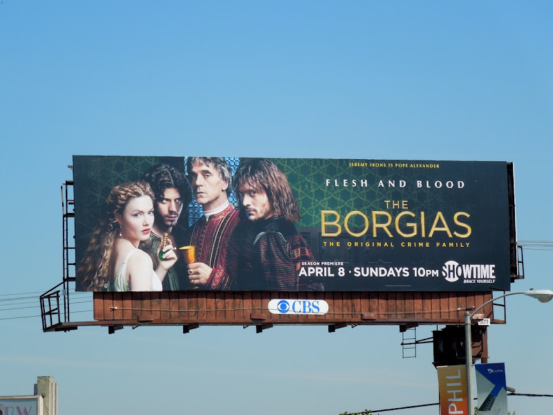The Borgias season 2 billboard