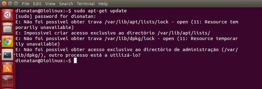 Problemas de atualização do Ubuntu