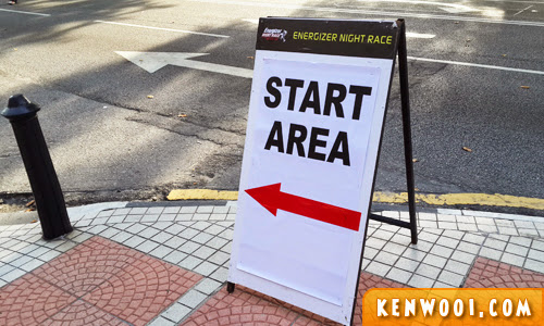 energizer race start area