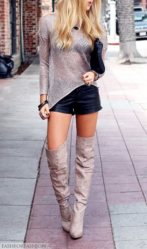 Pull On Thigh High Boots - Boot Hto