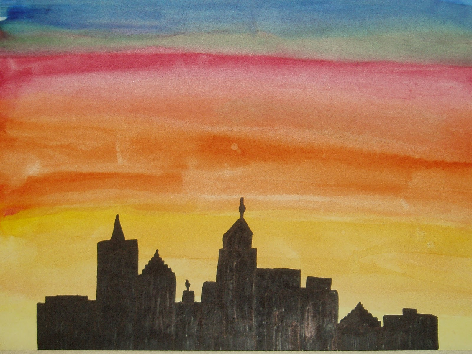 Miss Youngs Art Room 6th Grade Sunset Silhouette Pictures