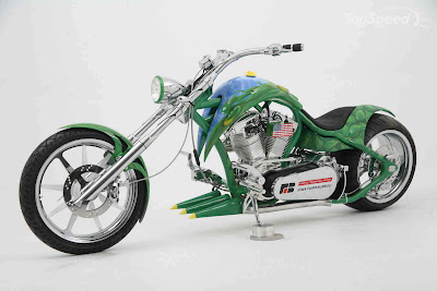 Modification Choppers Motorcycles Airbrush Army Design