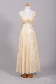 1950 Lace Vintage Wedding Gown