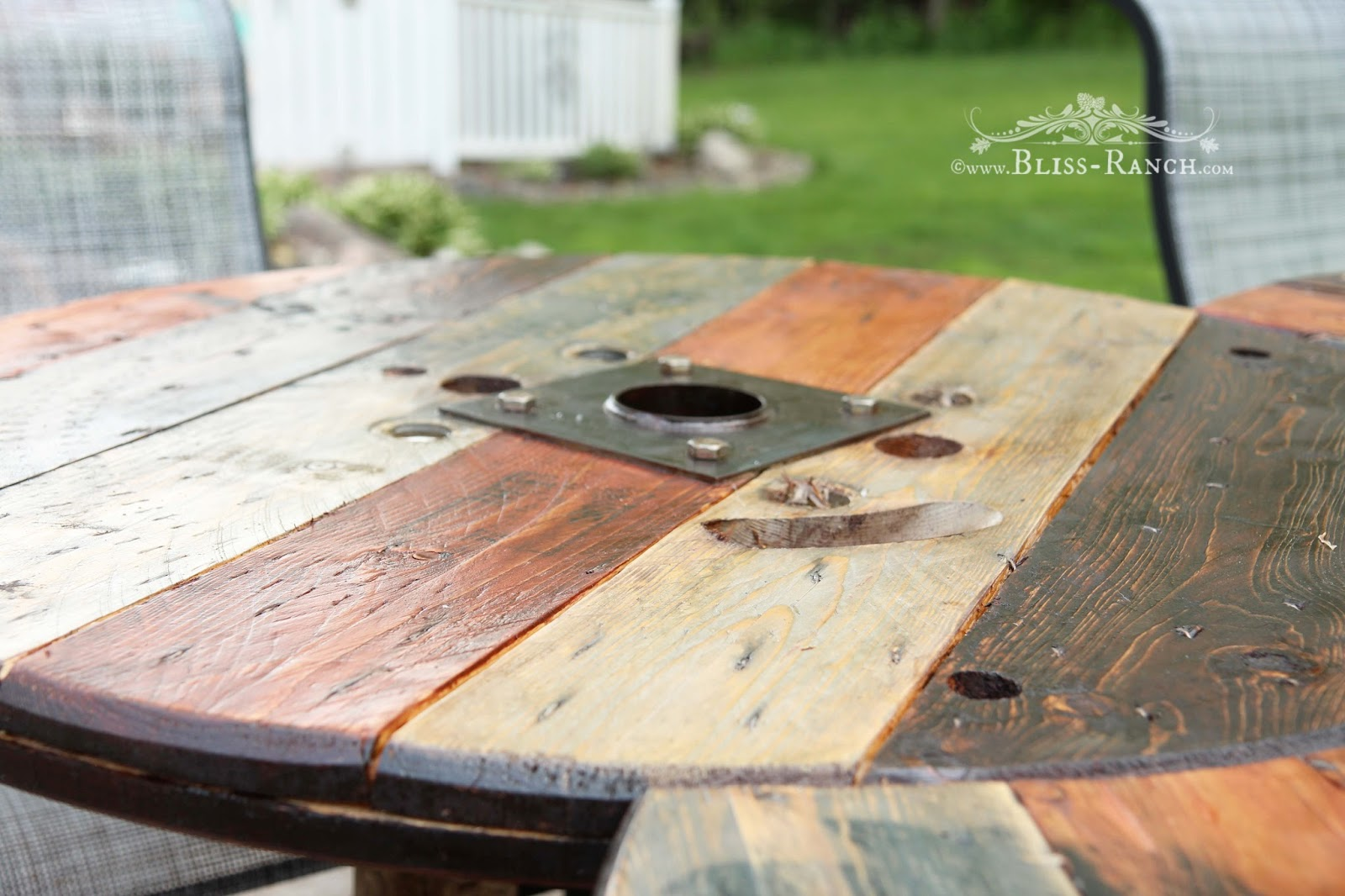Bliss-Ranch Wood Spool Table