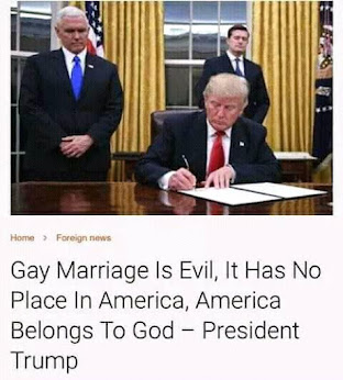 Same sex marriage is not Godly!