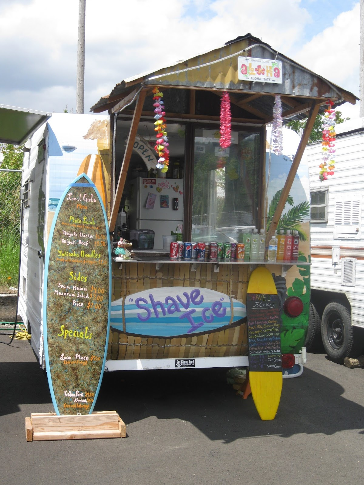 hawaiian shaved ice carts