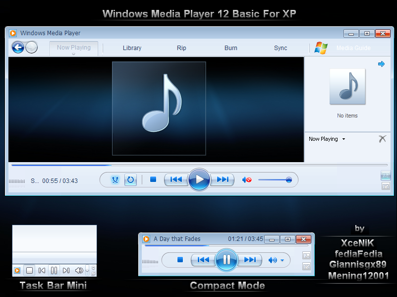 Windows Media Player 12 screenshot
