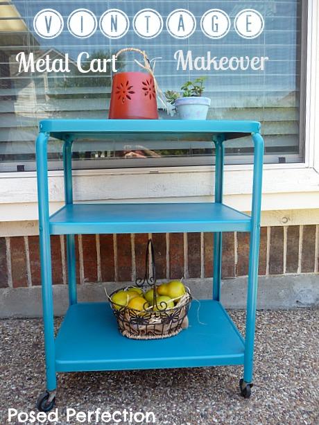 vintage metal cart
