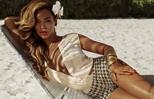 Beyoncé for H&M Summer 2013 - campaign beaded shorts