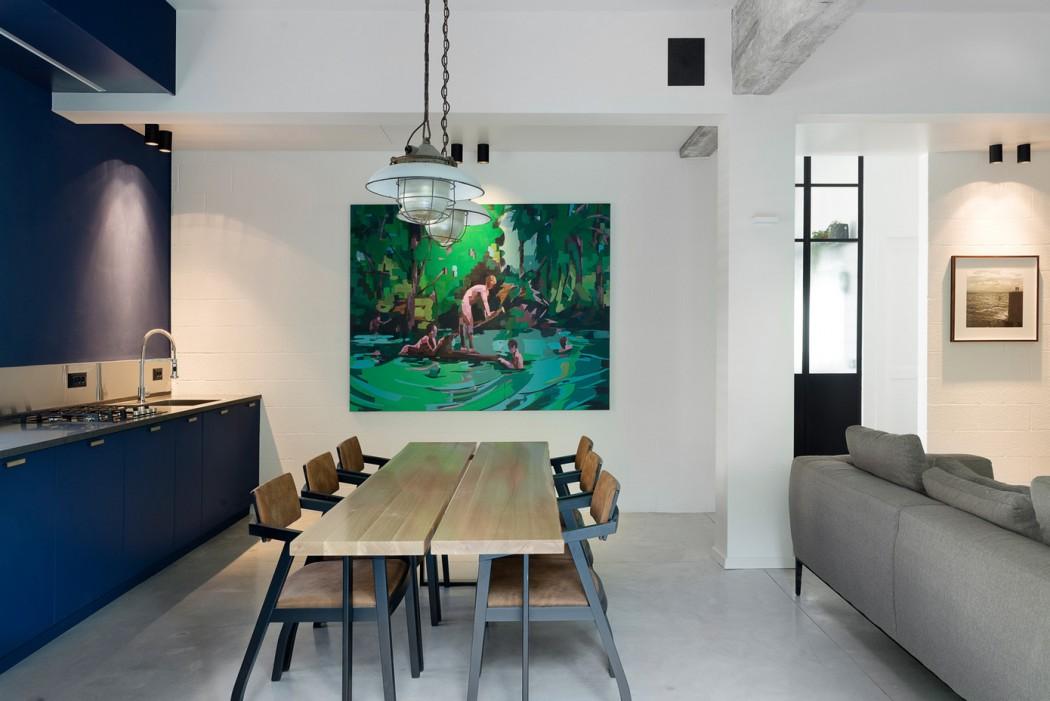 Living room de concepto abierto en tel aviv decoraci n for Concepto de comedor industrial