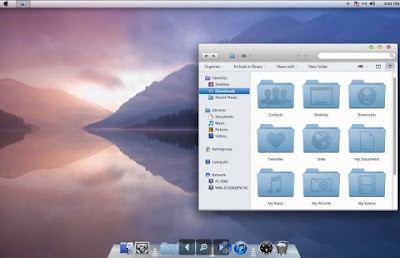 Promjenite Windows 7/Vista/XP u Mac OS X 10.7 Lion themes download