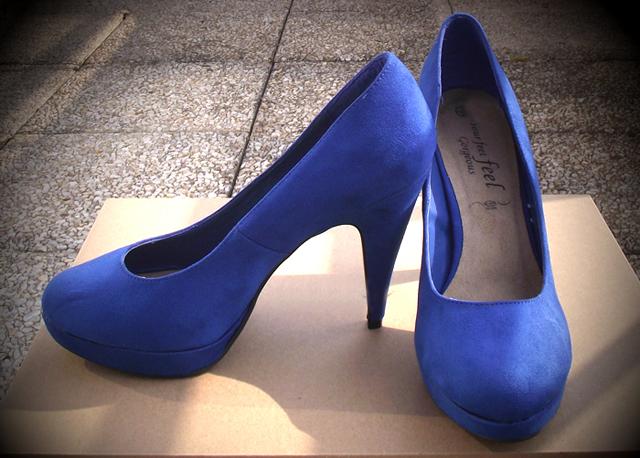 chaussures bleu roi New Look