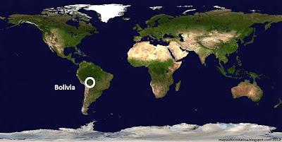 Mapa de Bolivia (planisferio)