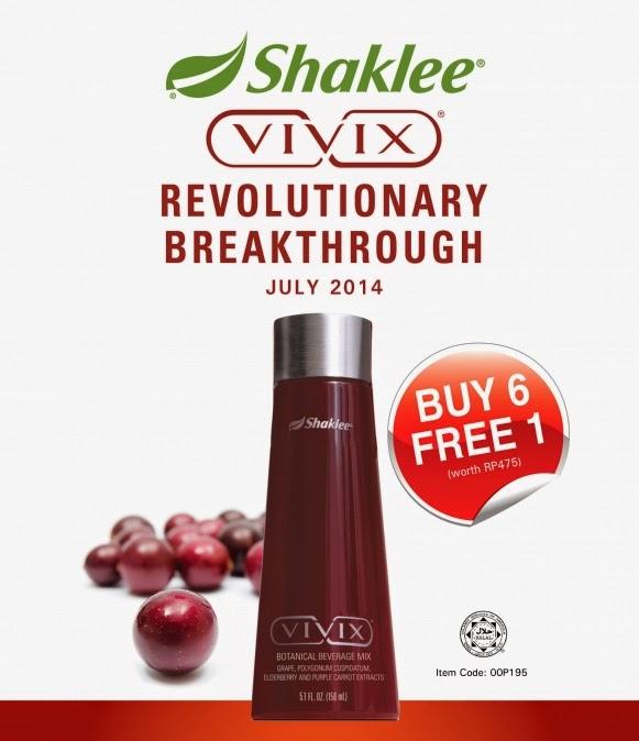 Promotion July Buy 6 Free 1 Vivix