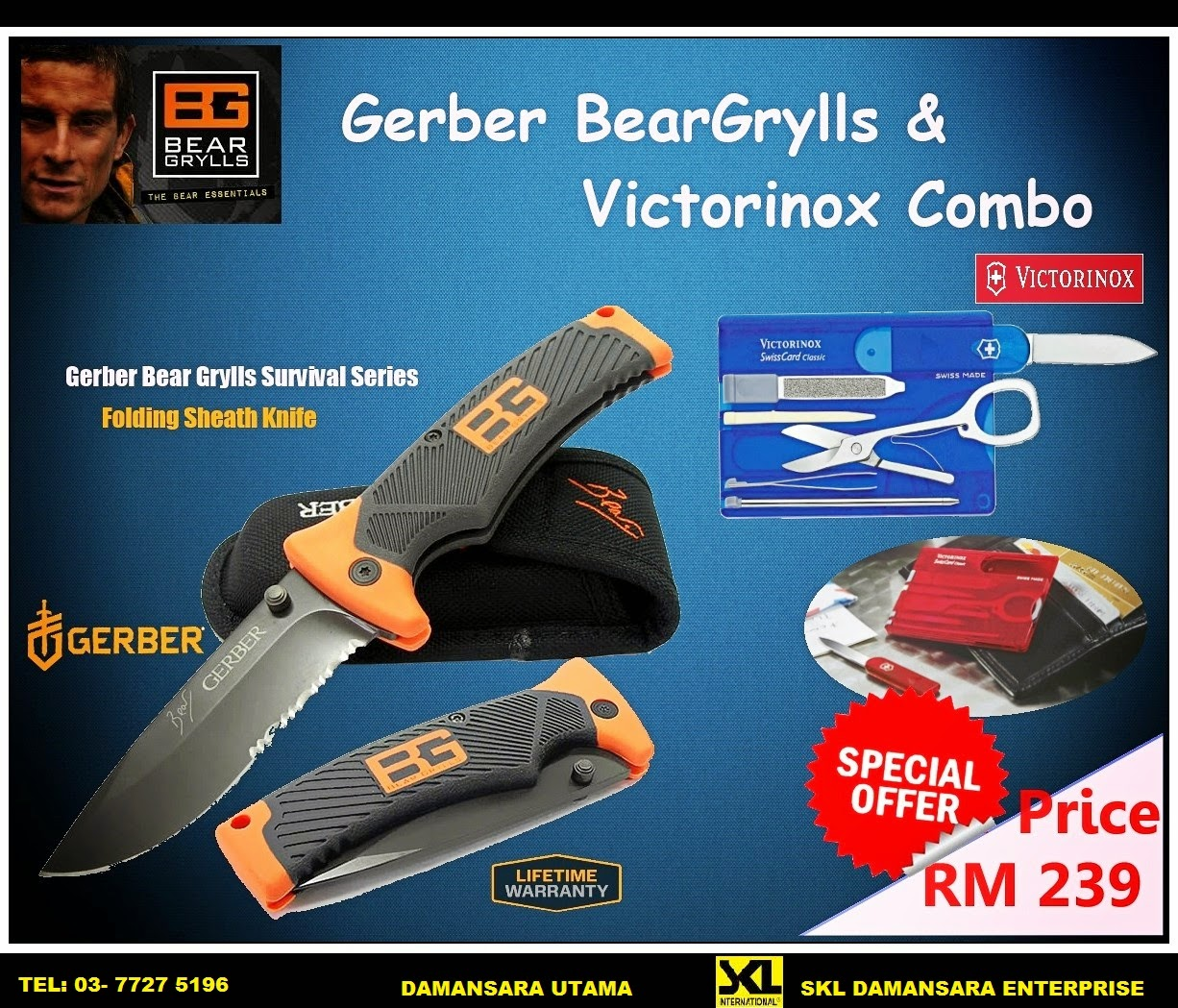 Great Saver!!!! Save $ 105 When you bought Bear Grylls Folding Sheath Knife & Victorinox Swiss Card
