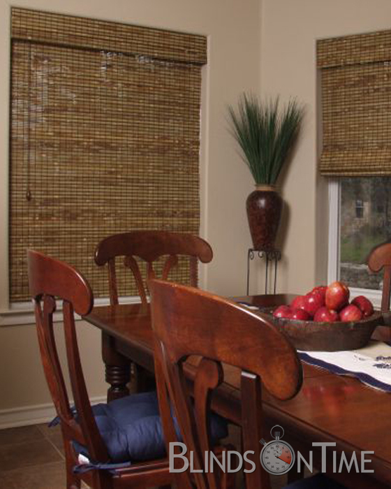 selecting new bamboo window shades on