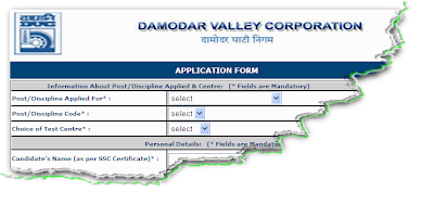 DVC Recruitment 2011 Online Form