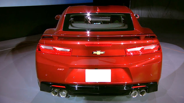 2016 New Chevrolet Camaro SS performance back view