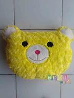 Bantal kepala boneka bear warna kuning