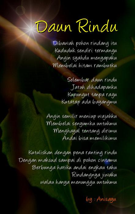 kumpulan puisi rindu untuk pacar bergambar terbaru cinta