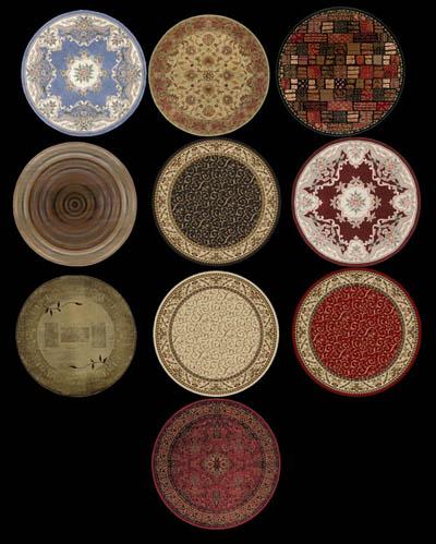 round rug, Rug/