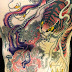 Japanese TATTOO Horimitsu Style 虎と蛸 tiger and octopus